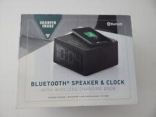 Sharper Image Digital Alarm Clock W/ Wireless Charging Dock