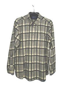 NWOT Pendleton Pure Virgin Wool Long Sleeve Men's Shirt Large L Beige Gray Plaid