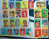 1958 TOPPS BASEBALL COMPLETE SET MANTLE CLEMENTE MARIS RC OVERALL VG+/VGEX!