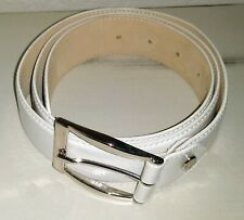 LONGCHAMP White Belt Waist PARIS CUIR DE VACHETTE-France