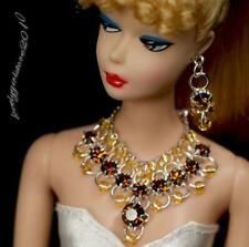 """Handmade doll jewelry necklace earrings fits 11.5/"""" doll 867A"""