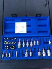 Cornwell Tools 34 Pc Master Star Amp E Torx Torx Bit Set Cbsmtx34s 14 38 Safety