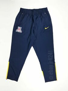 Nike Arizona Wildcats Sweat Pant Men's Lg Navy Yellow Zipper Pockets 802308