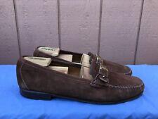 RARE Salvatore Ferragamo Men's Size US 11 D Brown Suede Driving Moc Loafer A4