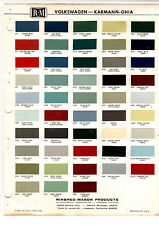 1959 1960 1961 1962 1963 1964 1965 1966 1967-1970 VW GHIA BEETLE PAINT CHIPS RM