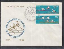 U 01 ) East Germany DDR 1966 World Canoeing Championships  beautiful FDC