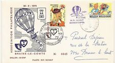INTROUVABLE - FDC COB 1944 EN COURRIER BALLON + 1923 (o) - TINTIN - 1/10/1979