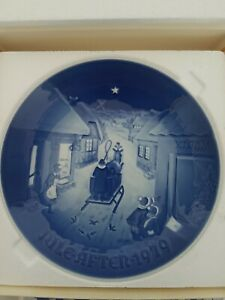 "Vintage Bing & Grondahl Jule After 1979 ""White Christmas"" Plate  NEVER DISPLAYED"