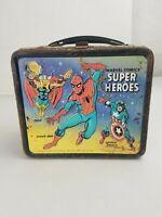 "Vintage 1976 ""Marvel Comics' Super Heroes"" Metal Lunch Box"
