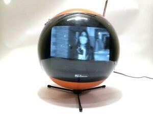 vintage space helmet JVC Nivico 3240CQ Videosphere Television orange