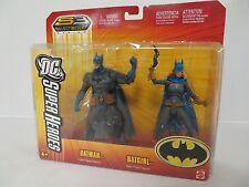 DC Super Heroes S3 Select Sculpt Batman & Batgirl 2 pack Action Figure MOC X62
