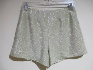 Urban Outfitters Gold Shimmer Shorts M NEW