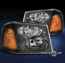 FOR 2002-2009 GMC ENVOY XL XUV REPLACEMENT HEADLIGHTS HEADLAMP LAMP BLACK LH+RH
