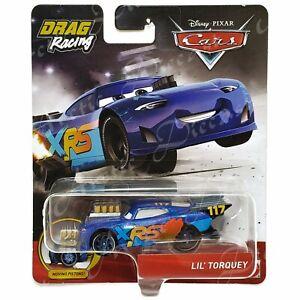 Disney Pixar Diecast CARS XRS Drag Racing Moving Pistons Lil' Torquey GFV39