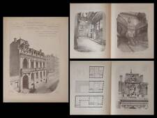 TOULOUSE, HOTEL JOURNAL LA DEPECHE - PLANCHES ARCHITECTURE 1895 - GALINIER