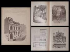 TOULOUSE, HOTEL JOURNAL LA DEPECHE - PLANCHES ARCHITECTURE 1895 - GALINIER
