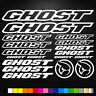 Ghost Vinyl Decal Stickers Sheet Bike Frame Cycle Cycling Bicycle Mtb Road