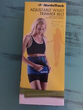 NordicTrack Adjustable Waist Tummy Trimmer Slimming Nylon Neoprene Wrap Zip Belt