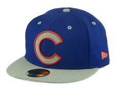 Chicago Cubs New Era MLB Full Heather XL Logo 59FIFTY Cap Hat New W/Tags WC Camp