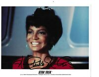 "Nichelle Nichols  Star Trek ""Uhura"" Hand Signed In Person Autographed Rare COA"