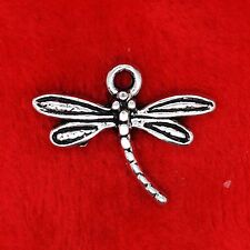 15 x Tibetan Silver Dragonfly Charm Pendants Finding Bead Jewellery Making