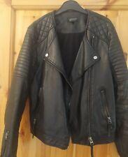 Leather Jacket Top Shop Size 10