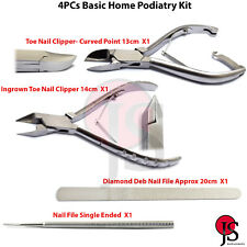 Basic Podiatry Kit Ingrown Toe Nail Clippers Nippers Foot Dresser Nail File 4Pcs