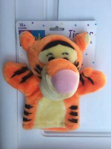 "New Disney Winnie the Pooh TIGGER 8"" Plush Hand Puppet - Mattel Arcotoys"