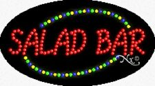 "NEW ""SALAD BAR"" 27x15 OVAL SOLID/ANIMATED LED SIGN w/CUSTOM OPTIONS 24124"