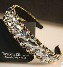 Women Fashion Crystal Headbands Shining Sparkling Rhinestones Gems Lycra Viscose