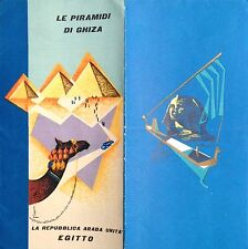 § PYRAMID OF GHIZA - TOURISTIC BROCHURE IN ITALIAN WITH INFO AND IMAGES 1958