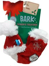 Bark Happy Gnawlidays 2 Pack Great for Small dogs Crinkle Squeakers