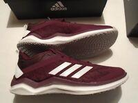 NIB adidas Speed Trainer 4 Men's Shoes Several Sizes B27843 Maroon Baseball