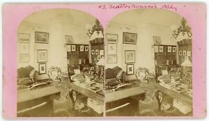 ABOLITIONIST MA. SENATOR CHARLES SUMNER #2 STUDY SIGNED PORTRAITS WORLD LEADERS