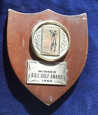 Vintage Babe Didrikson Zaharias Golf Award Winner's Plaque