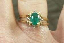 Two Sided Gemstone Ring, Emerald And Rubies