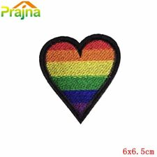 "RAINBOW HEART Embroidered Patch - 2x2.25"" - LGBTQ+ Queer Pride Love Unity"