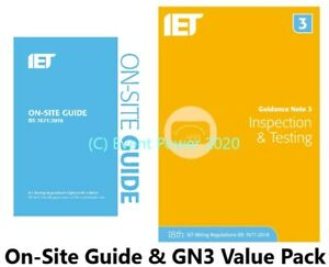 OSG & GN3 18th BS 7671 2 Books REGS On Site Guide Testing IET Regulations Onsite
