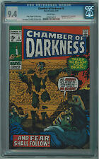 CHAMBER OF DARKNESS #5 CGC 9.4 KIRBY COVER, LOVECRAFT ADAPTATION WHITE PAGES BA