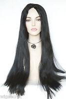 Black Brunette Long Skin Top Straight Costume Wigs