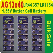 40 x AG13 357 LR44 LR1154 Alkaline 1.55V Button Cell Battery Free Postage