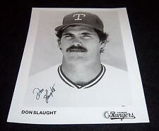 Texas Rangers Don Slaught Signed Autographed 8x10 Photo