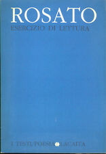 Giuseppe Rosato: Esercizio di lettura 1984