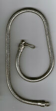 collana bagno argento indiano INDIAN SILVER snake necklace 50 52CM X 6/7 mm