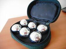 Sac 6 Boules de petanque miniature presque neuf Livraison sous 48 depuis LA FRAN