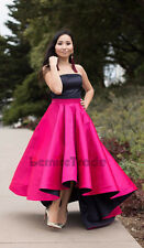 High Low Fashion Skirts Taffeta Long Maxi Prom Party Cocktail Celebrity Skirt