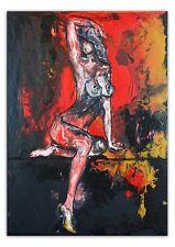 BURGSTALLER Posing 3 erotisches Gemälde Liquid Painting Erotik Bild Nackte Frau