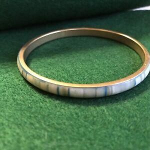 enameled shades of green bangle bracelet