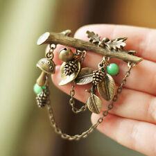 Mushroom Pendant Brooch Pin Jewelry Yjus Fashion Vintage Original Tree Pine Cone