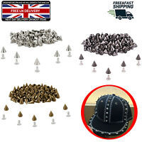 Punk Stud Rivets Cone Spike Spot for DIY Leathercraft Shoes Belt Jacket 100pcs